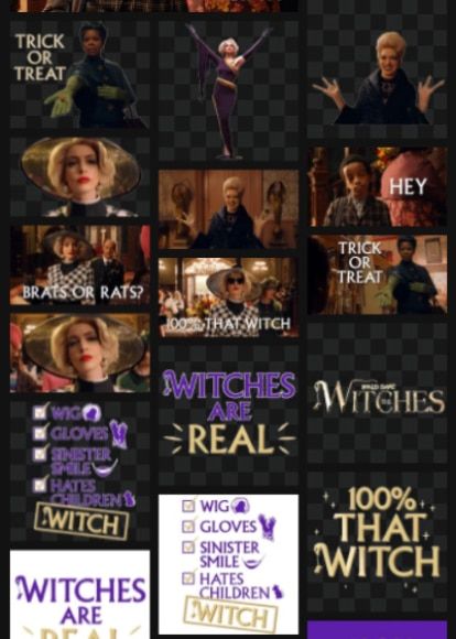 The Witches giphy stickers