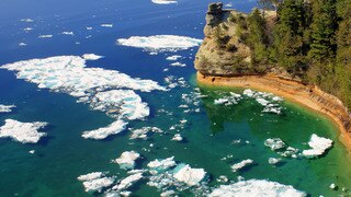 Pictured Rocks: Sleds and Snow Beds